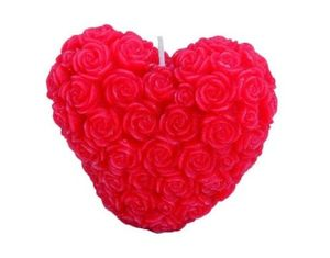 LUMANARE DECORATIVA INIMA DIN TRANDAFIRI ROSII ROSE'S VALENTINE - LUMANARE DECORATIVA INIMA DIN TRANDAFIRI ROSII ROSE'S VALENTINE