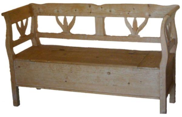 Bancuta din lemn rustica Bunica