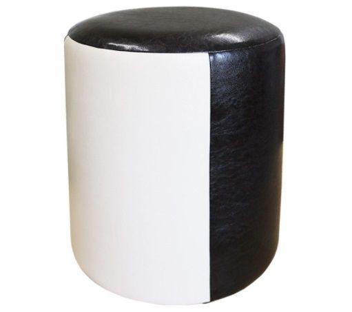 TABURET TUB PIELE BEJ-WENGE