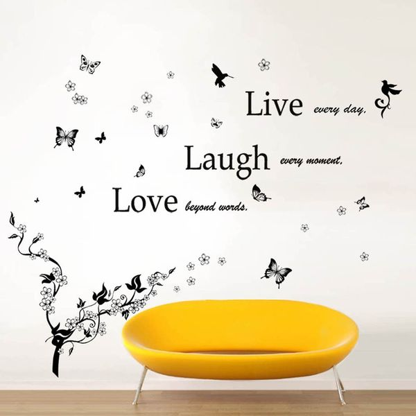 STICKER DECORATIV LIVE LAUGH LOVE